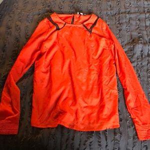 long sleeve red/orange top